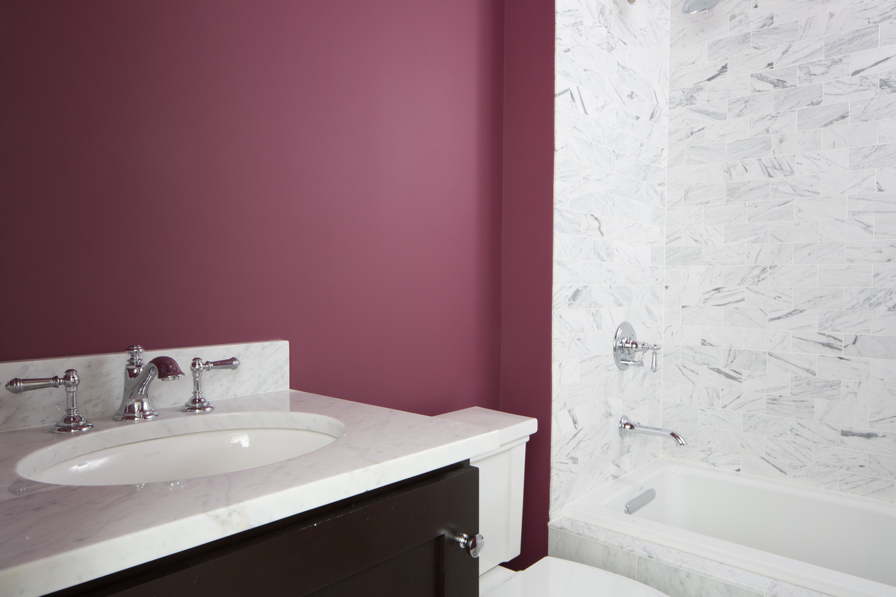 Paint Color of the Week: Carter Plum - The EasyPaint blog on platelet bathroom design, small bathroom layouts design, home depot bathroom design,
