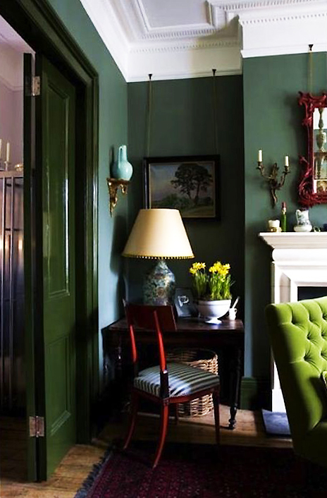 monday color inspiration dark green rooms the easypaint blog
