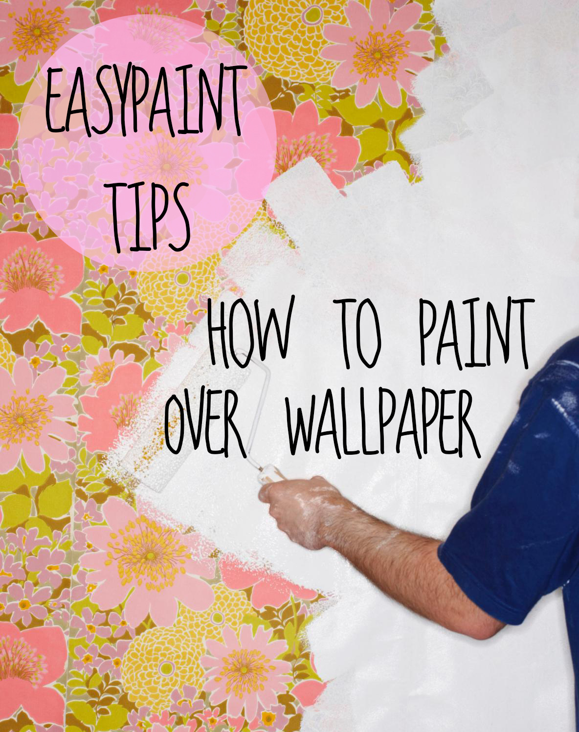 tuesday tip how to paint over old wallpaper the