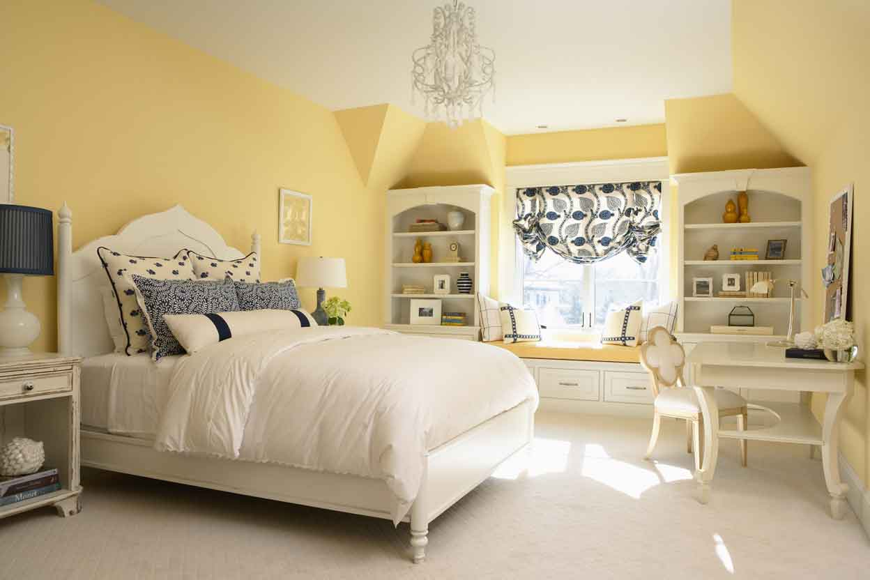 Light yellow and grey bedroom - Yellow Bedroom Archives The Easypaint Blog
