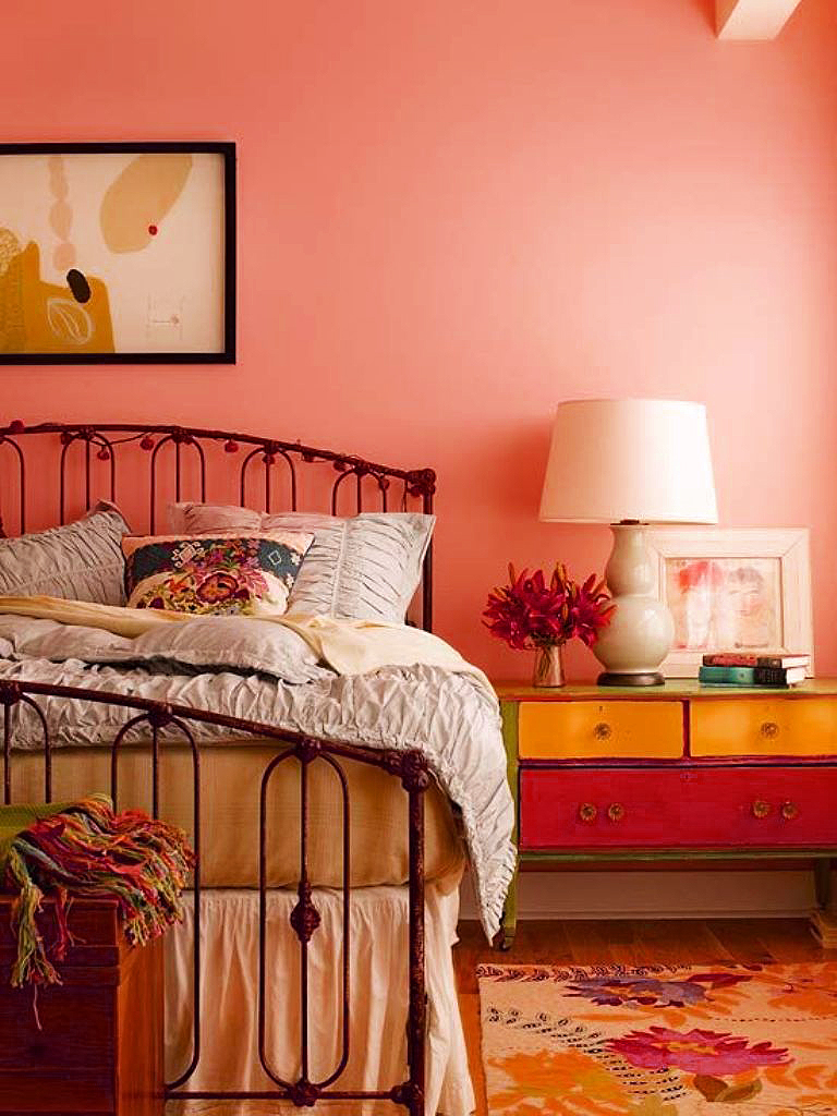 Light Color Peach Bedroom