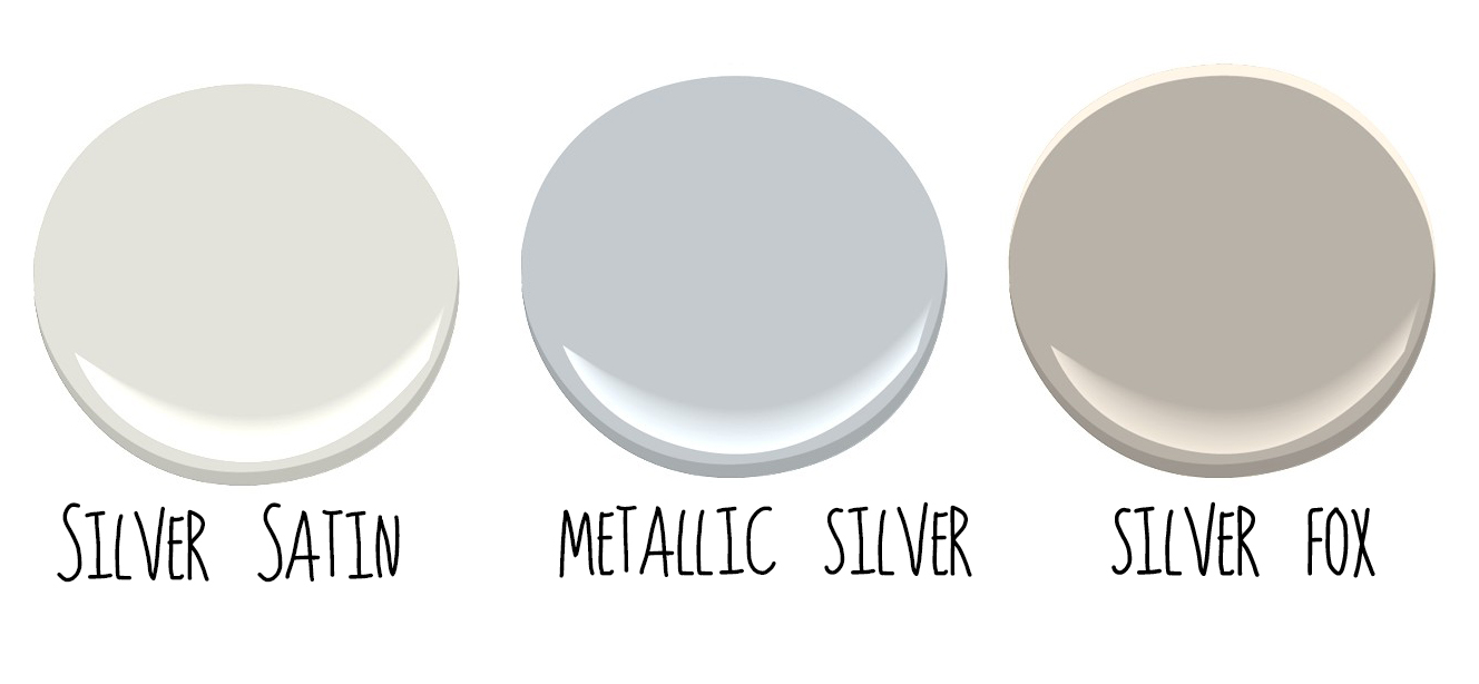 They Are Benjamin Moore S Silver Satin Metallic And Fox